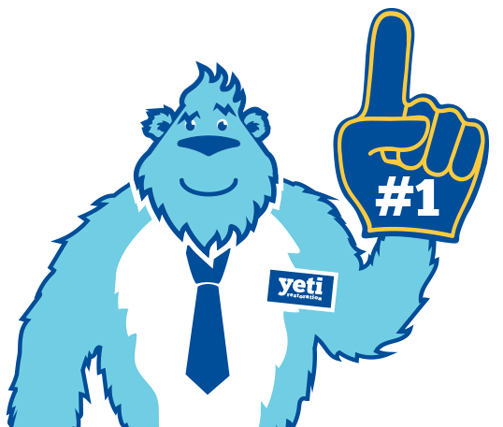 Yeti with Number One Glove